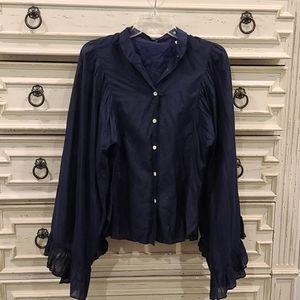 Beautiful flowing long sleeve silk blouse